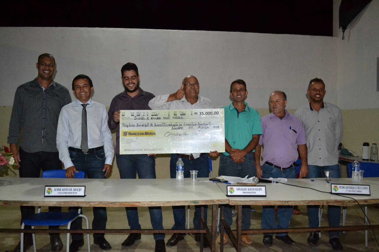 Câmara de Miraí repassa R$ 35.000,00