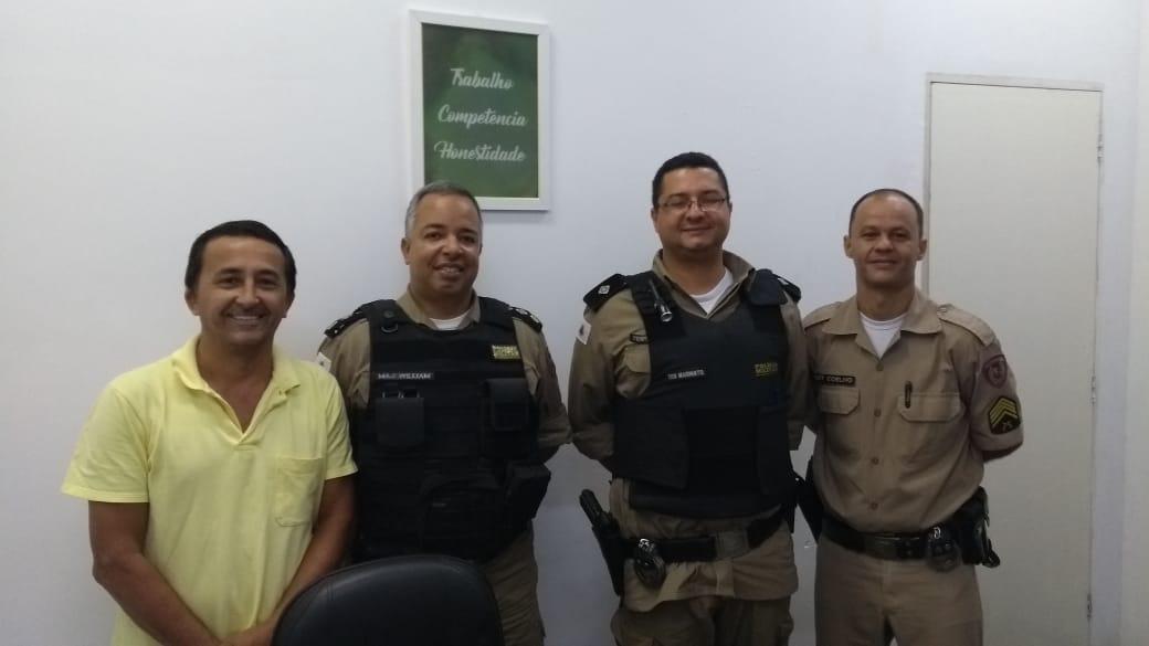 Câmara Municipal de Miraí recebe visita de autoridades na manhã do dia 11/02/2020.